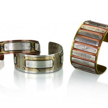 layered nature cuffs